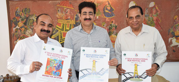 Poster of Third Delhi International Film Festival Launched by Sandeep Marwah