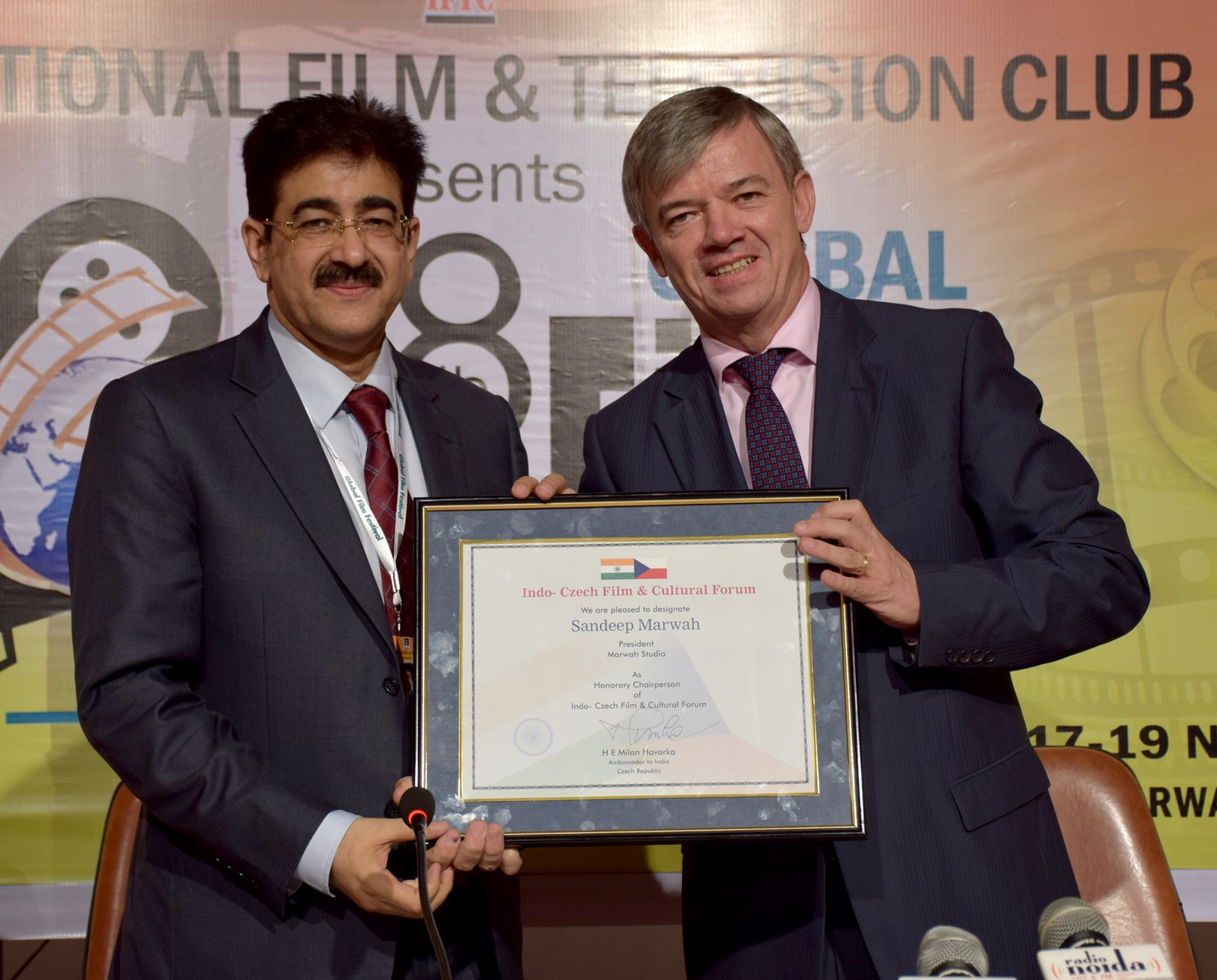 Sandeep Marwah Nominated Chairperson of Indo Czech Republic Film And Cultural Forum